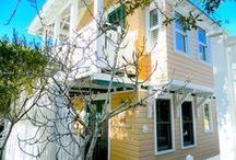 Cabana Babe - Seaside, FL /  1BR, 1.5 BA Located behind Cabana Fever and on the footpath between Natchez and Odessa, Cabana Babe is a half-minute walk to the beach. The guesthouse was added in the early 2000's. It is two stories and as compact as a small yacht. Cabana Babe features 1.5 baths, washer/dryer, fully functional galley kitchen and a charming ocean-view balcony and bay window in the upstairs queen bedroom. The cottage has an old-Florida vibe.