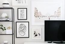 Wall Decor Inspiration / Wall Decor Inspiration & Ideas For The Home inc. Wall Art, Mirrors, Tiles, Painting, DIY etc