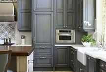 Awesome kitchen ideas, Idées cuisines / Great storage, finishes, lighting and tips