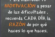 Motivación / La MOTIVACIÓN es básica para toda persona, más si cabe si eres un EMPRENDEDOR. Somos humanos y a veces cuesta mantenerla. ¿ Qué haces tu para mantenerte MOTIVAD@?