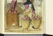 Medieval Dyeing / Natural materials used to dye wool, linen, hemp and silk in Northern Europe in the 12th century, including use of mordants.