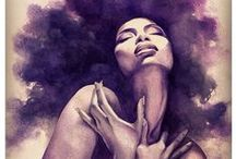 Black Power Art / Drawing and painting black power woman cabelo mulher negra