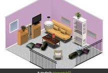 Small Spaces & Places / These small, simple, streamline places are multi-functional. Condos, Cabins, & Cottages  -  Can You use these ideas?  Kathy's Designs & Decorating from www.homestyler.com
