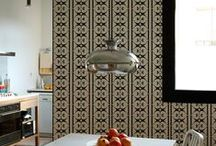 Wallpaper by Carrie Van Hise / The Bodoni Collection is designed exclusively with numbers in the Bodoni typeface. Designed for Tres Tintas Barcelona. Contact  www.trestintas.com