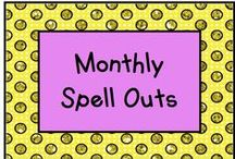 Monthly Spell Outs / Spell the name of the month! / by KinderLit