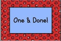 One and Done! / Read one book, do one project, in one day, and you're done! / by KinderLit