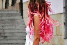 Hairstyles and colorful hair ideas