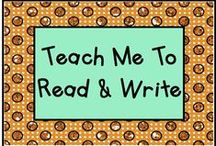 Teach Me To Read and Write! - a Pre-K - 1st Grade Language Arts Board / Activities for teaching reading in Pre-K through First Grade.   Rule: Pin one non-product idea or resource for every paid product.