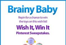 Wish It, Win It: Brainy Baby / Wish It, Win It Pinterest Sweepstakes! Repin the main graphic from your favorite Wish It, Win It Kaplan Toys Pinterest board for the chance to win ALL of the items featured there! One lucky winner will be announced on Nov. 24th. / by Kaplan Toys
