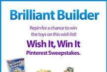 Wish It, Win It: Brilliant Builder / Wish It, Win It Pinterest Sweepstakes! Repin the main graphic from your favorite Wish It, Win It Kaplan Toys Pinterest board for the chance to win ALL of the items featured there! One lucky winner will be announced on Nov. 24th. / by Kaplan Toys