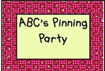 ABC's of Pinning Party / Teachers pinning their products in alphabetical order! / by KinderLit