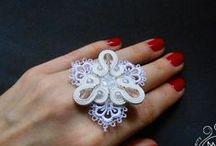 Soutache rings and bracelets