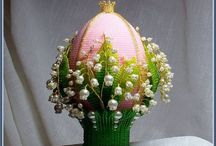 Яйца из бисера Пасха