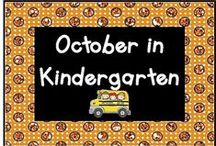 October in Kindergarten / Check out these October activities!  Pin up to 3 pins a day that relate to activities and ideas for October, like Fire Prevention Week, Columbus Day, United Nations Day, and Halloween.