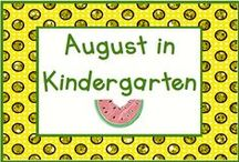 August in Kindergarten / August means many things to many people - last month of summer break or back to school!  Pin up to 3 pins a day for special August activities/holidays such as National Watermelon Day (3rd), Friendship Day (7th), or National Lefthanders Day (13th).