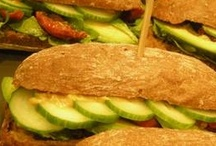 Broodje Sarita / Vegan sandwich 'Broodje Sarita' available at the restaurants in the HEMA in the Netherlands from June 18 till July 16 2012. Sandwich with with avocado, sundried tomatoes, mustard, cucumber and lettuce.