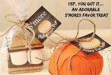 Fall & Thanksgiving Treats / Striped paper straws for Fall, Tailgating and Thanksgiving gathering buffets...♥