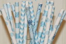 PARTY THEMED Paper Straws and Favor Bags / Paper Straws, Disney Frozen Party, Kids Birthdays, Wedding Drink Bars and Paper Favor Bags in fun colorful assotments for Themed Parties, Birthday, Wedding, Baby, Catering, Events, Family Gatherings, Sports, Tailgating, Graduations,