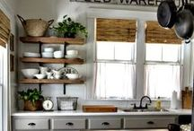 Open Shelving / Fresh and European inspired, open shelving can add a touch of whimsy and charm. While not for everyone, there is a lightness and functionality associated with open shelving. Whether a couple of shelves, the entire upper display of cabinets or an island, this design element has captured the imagination of many homeowners.