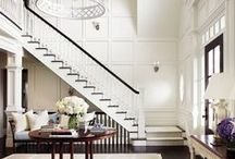 """Foyer / """"Enter with a happy heart."""" First impressions - be inspired to create a welcoming and inviting entrance into your home's interior."""