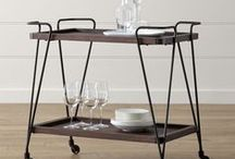 Carts for your Bar / The piece of furniture to own - functional and fun. Most certainly, a household item with a past. Scour flea markets and thrift stores; you're sure to find one to bring home that speaks to you.