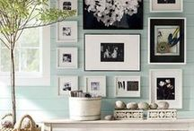 Picture Gallery Walls / A catalogue of photos and other memorabilia designed to capture the moment, track the passage of time and preserve memories designed to make a wall statement.