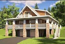 Drive Under House Plans / Drive under house plans are designed for garage placement located under the first floor plan of the home. Typically, this type of garage placement is necessary and a good solution for homes situated on difficult or steep property lots; oftentimes, there is a basement foundation attached for expansion purposes, making this home style a popular one.