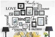 *{home} Wall Arts, galleries & Frames / I love frames and wall arts so why not dreaming about the perfect Wall galleries? / by Cami @ The Crafting Nook