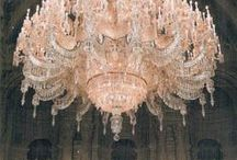 Crystal chandeliers, glassware and such / beautiful crystal cut for sparkling! / by Shirley Menasco