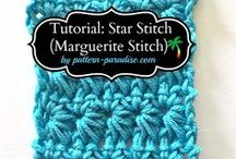 BOS Crochet Stitches & Techniques we love / There are tons of crochet stitches and different techniques out there on the internet and in books. Here are some of our Challengers favorites!
