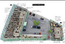 世界の設計事務所シリーズ / 『日経アーキテクチュア』「シリーズ 世界のトップ」で掲載された設計事務所の俯瞰図です。