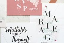 - OUR WEDDING STATIONERY - / création papeterie de mariage, faire-part save the date, carton réponse. Wedding stationery