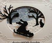 CARDS - Christmas SILHOUETTE