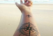 Travel Tattoos / For those who love travel and want to have a reminder daily of their adventures, this board is for you.
