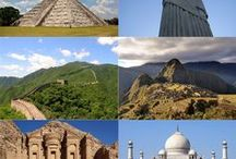 7 Wonders of the World / A visual story board of the 7 Modern Wonders of the World to add to your travel bucket list