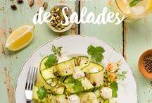 Salades | Saputo / Pourquoi ne pas déguster des salades toute l'année? Découvrez ici les meilleures idées recettes fraîches, colorées et savoureuses pour des repas simple et santé en toute saison!
