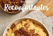 Recettes réconfortantes / Avec l'arrivée des grands froids, le besoin de réconfort se fait sentir, surtout dans votre assiette! Découvrez une sélection de recettes riches, savoureuses et simples à réaliser pour ces soirées d'hiver où la chaleur de la cuisine et la douceur du foyer vont de pair.