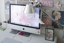 ♡ Hobby room  / Workspace | Werkplek | Hobbyroom | Tafel | Bureau | Computer | Bureau stoel | Chear