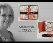 Cards with Creative Folds / My Video Series on Cards with Creative Folds