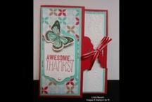 Stampin' Up!'s Designer Paper / Love that all the colors match with other papers, ribbons, brads etc. Your one-stop paper crafting store in Stampin' Up! / by Linda Bauwin - CARD-iologist