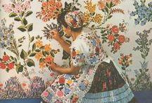 Traditional Folk Art / Beautiful Folk Art Paintings of years gone by...