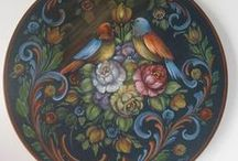Hindeloopen art / A traditional style of decorative painting originating in the Netherlands