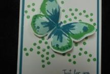 Watercolor Wings Stamp Set with Bold Butterfly Famelits / Stampin' Bundle 15 Photopolymer stamps in the 2-Step stamping set called Watercolor Wings plus a 2 framelits. Purchase together in a bundle save 15% all for only $36.50 / by Linda Bauwin - CARD-iologist