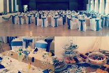 Blue & gold themed wedding Viuš