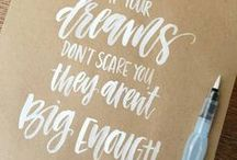 Hand lettering / Lots of resources for anyone excited to learn brush lettering