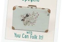 Stunning suitcases / Beautifully decorated suitcases, tutorials and ideas. Vintage, up cycled and just downright gorgeous.