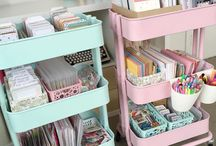 Craft room inspiration / When you spend so much cherished time in one area, you have to feel at home. From great storage ideas to colour and furnishing inspo, find your dream craft room amongst these pins.  If you would like to collaborate, simply leave a message on one of the pins on this board to be invited