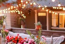 Balcony /  Nothing is better than a nice and cozy balcony for a nice breakfast, or a glass of wine in the evening with beautiful soft lights