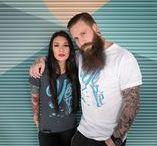 Frauen-Stoff / T-Shirts der Designshirt Manufaktur KONTAKTSTOFF – gefertigt im handgemachten Siebdruck.