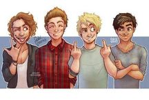 Cal, Mikey, Luke, and Ash / My favorite band and inspiration for music. Please please don't hate on them / by Olivia Ways